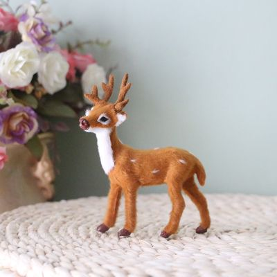 Simulated deer ornaments Christmas deer handicraft office desktop decoration deer baby mascot